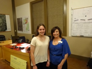 1469 Violet Richardson Award -- Taylor Froomin of Loomis, a student at Del Oro High School, volunteers with Placer TOP Soccer with Randi Beasley